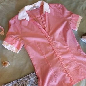 Pink Zara Button Down Blouse